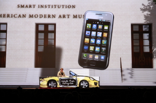 Samsung Electronics launches its Galaxy S smartphone in Switzerland on Wednesday. Samsung Electronics