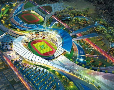 An artistic rendering of the main stadium (IAGOC)