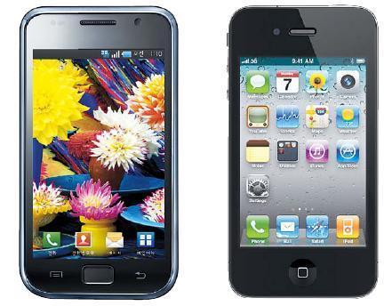 Samsung's Galaxy S Apple's iPhone 4
