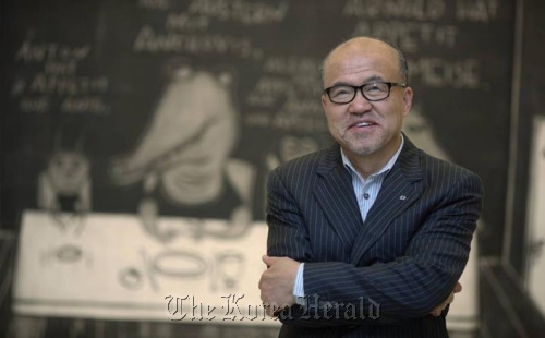 Kim Chang-il, president of Arario Galley in Cheonan, South Chungcheong Province.Yonhap News