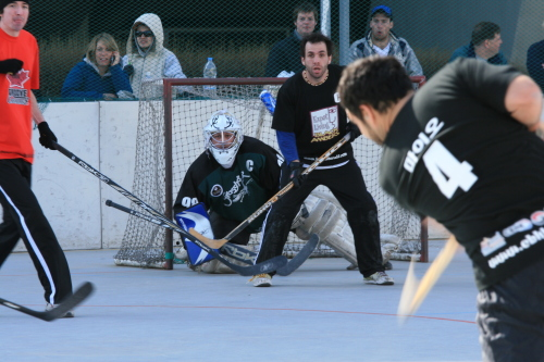 CBHK director Andrew Maio of the Expat Living Team takes a shot towards the goal during 2010 spring league playoff action. Photo by Colin Gennoe