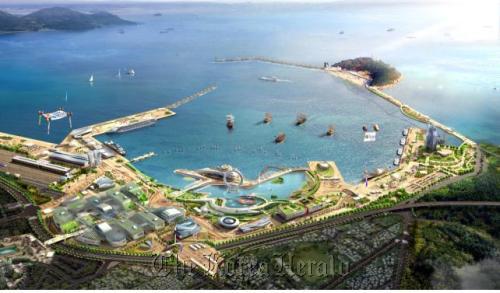 A bird's-eye view of the Yeosu Expo site (Yeosu Expo Organizing Committee)