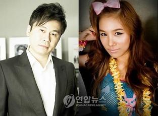 (YG Entertainment CEO Yang Hyun-suk and Lee Eun-joo)