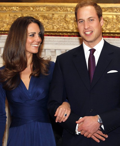 Britain's Prince William and Kate Middleton tie the knot on April 29.