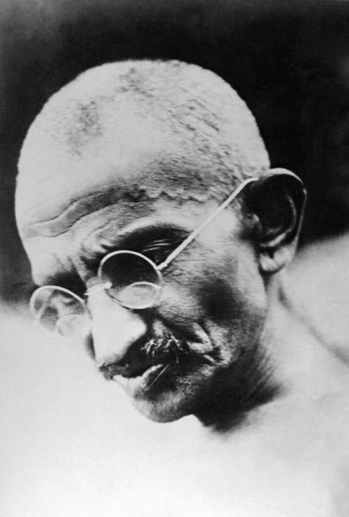 An undated file picture taken in New Delhi shows Indian nationalist leader and founder of the Indian National Congress Mohandas Gandhi, known as the Mahatma (1869-1948). (AFP-Yonhap News)
