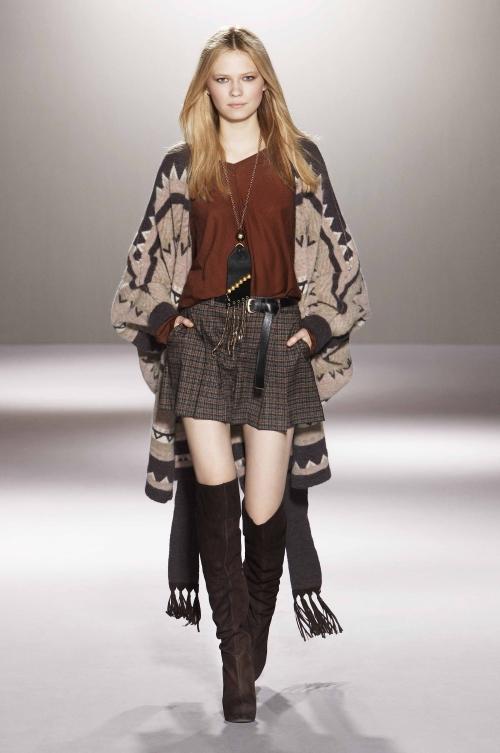 A model wears Nordic patterned knitwear.