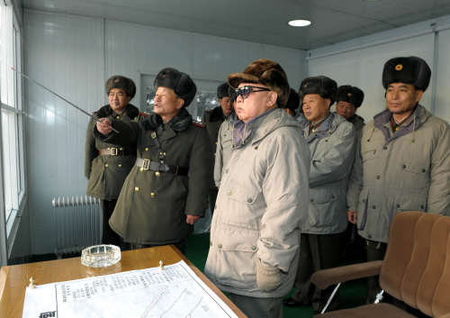 North Korean leader Kim Jong-il is on a tour to observe military excercises. (Yonhap News)