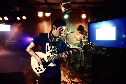Sean Maylone plays with his band Sighborgggg. (Mathew Brisbois)