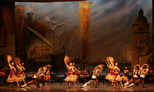 """A group dance scene of the first act of """"Don Quixote"""" (Universal Ballet Company)"""