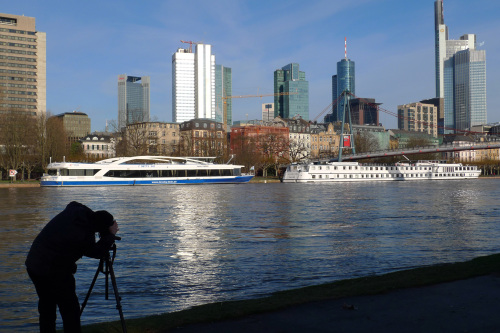 The skyline of Frankfurt, Germany, is photographed across the Main River. (MCT)