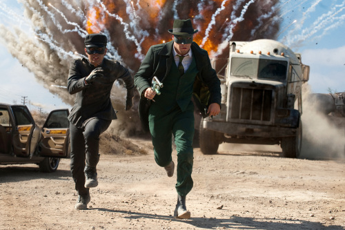 """Jay Chou, left, and Seth Rogen star in Columbia Pictures' action film, """"The Green Hornet.""""(Jaimie Trueblood/Courtesy Columbia Pictures/MCT)"""
