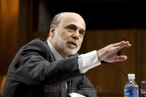 Ben S. Bernanke, chairman of the U.S. Federal Reserve, testifies at a Senate Budget Committee hearing in Washington, D.C. (Bloomberg)