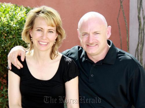 Congresswoman Gabrielle Giffords and her husband Mark Kelly