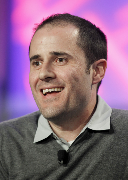 Evan Williams, co-founder of Twitter Inc., speaks at the Web 2.0 Summit in San Francisco, California, U.S., on Wednesday, Nov. 17, 2010. (Tony Avelar/Bloomberg)