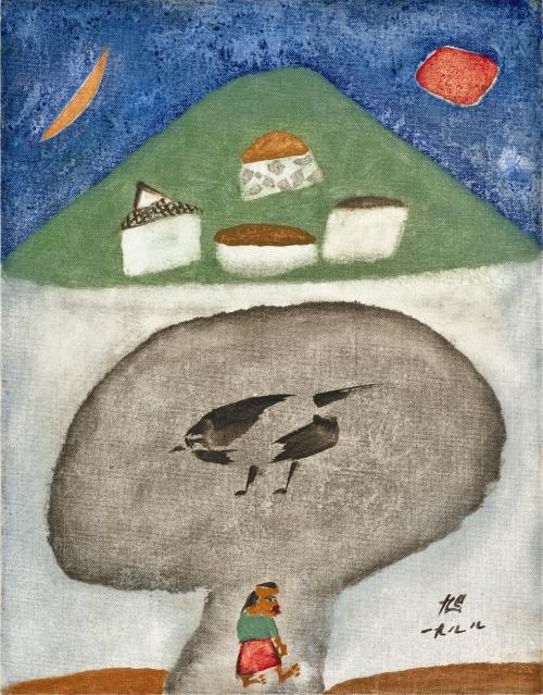 """The Half Moon"" by Chang Ucchin whose exhibition runs through Feb. 27 at Gallery Hyundai in Sagandong, central Seoul. (Gallery Hyundai)"