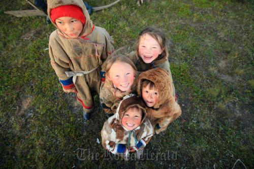 "Nenets kids living in Siberian Tundra featured in SBS documentary ""The Last Tundra."" (SBS)"