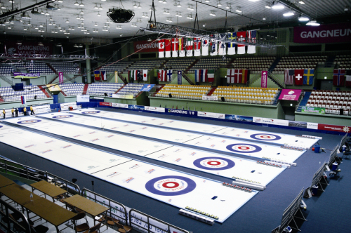 The curling venue at Gangneung Ice Rink (PyeongChang 2018 Bid Committee)