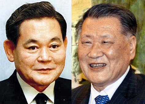 Lee Kun-hee and Chung Mong-koo