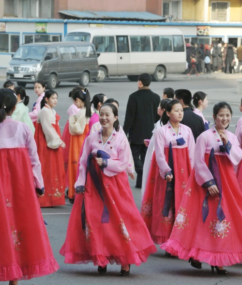 People are celebrating the 69th Birthday of North Korean Leader Kim Jong-il on Wednesday. (AP-Yonhap News)
