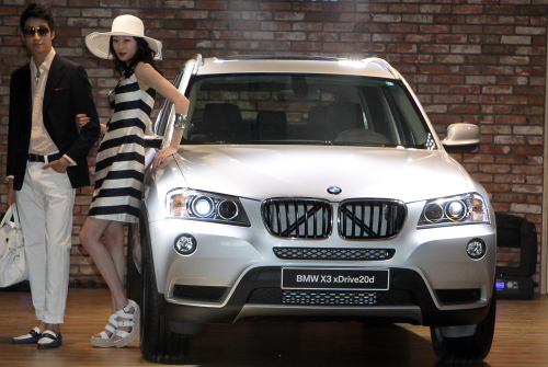 BMW Korea has unveiled new X3 (Yonhap News)