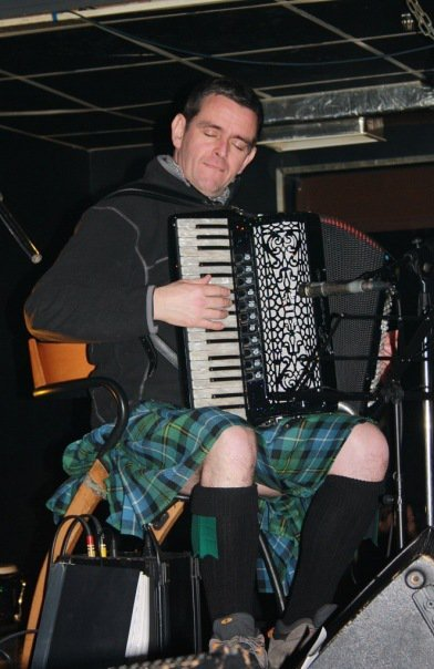 Michael Garvin plays the accordion with Glenhoulachan Ceilidh Band, who perform every year at Geoje Foreign Residents Association's Burns Night celebrations. (Glenhoulachan Ceilidh Band)