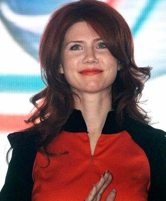 Russian spy Anna Chapman launched her own weekly TV show on Friday. (AP)