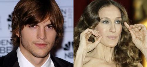 Ashton Kutcher (left) and Sarah Jessica Parker (right) (MCT)