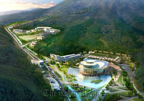 A bird's eye view of the Taekwondo Park in Muju, North Jeolla Province ( Taekwondo Promotion Foundation)