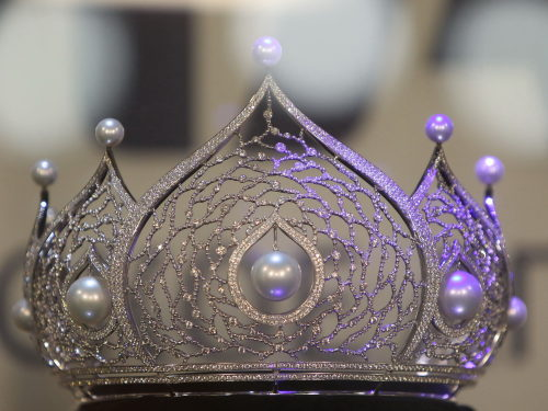 The crown is seen during a news conference of the Miss Russia 2011, in Moscow.
