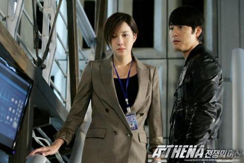 Lee Ji-ah and Jung Woo-sung in