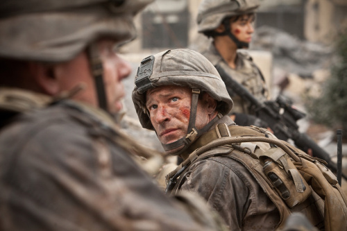 """Aaron Eckhart stars in Columbia Pictures' """"Battle: Los Angeles.""""(Richard Cartwright/Courtesy Columbia Pictures/MCT)"""