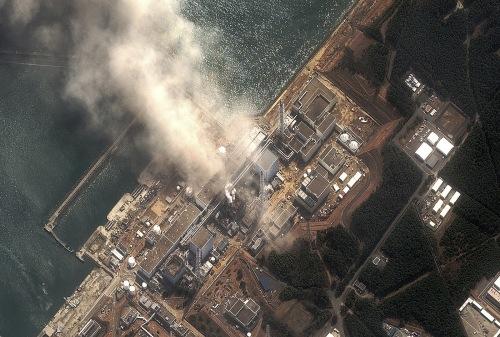 Centrale Nucleare di Fukushima vista dall'alto