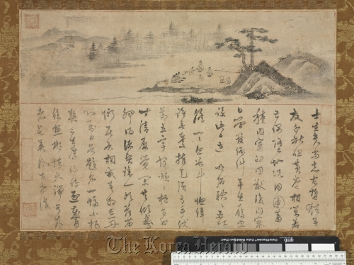 """""""Miwongyehyedo,"""" or """"Literary Gathering"""" by an unknown artist from the Joseon Dynasty in the 16th century. (The Cleveland Museum of Art)"""