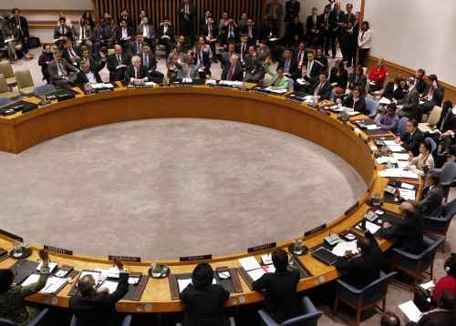 Member states vote to approve a resolution that will impose a no-fly zone over Libya during a meeting of the United Nations Security Council at UN headquarters Thursday, March 17, 2011. In addition to the no-fly zone, the resolution authorizes