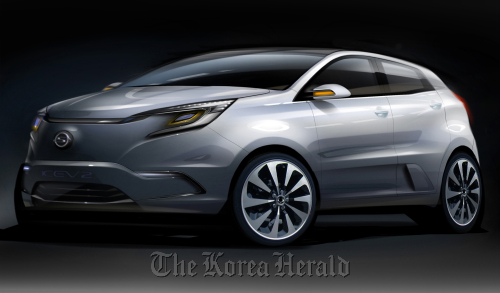 Computer generated image of Ssangyong Motor Co.'s electric concept car KEV2. (Ssangyong Motor Co.)