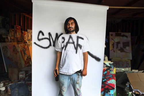 Cristian Gheorghiu in his East Hollywood garage studio (Los Angeles Times/MCT)