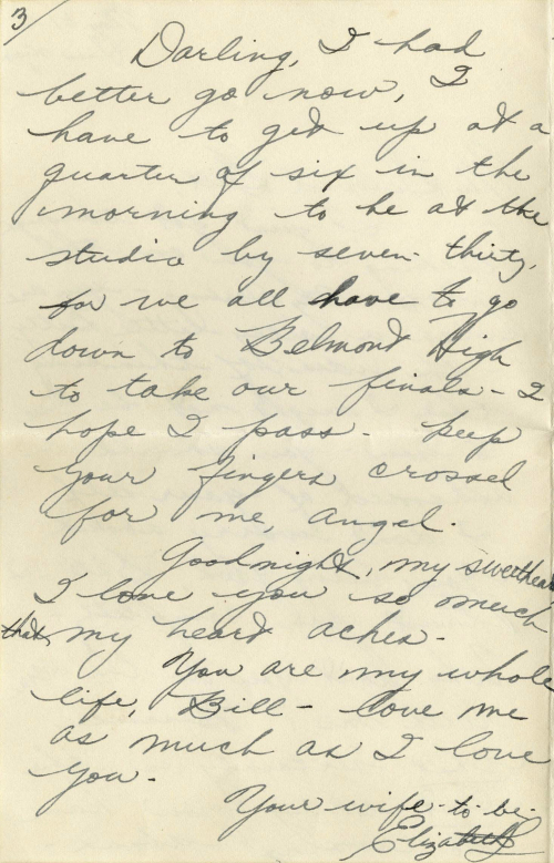 """The last page of a letter written on May 31, 1949, and signed, """"Your wife-to-be,"""" by the late actress Elizabeth Taylor. (AP-Yonhap News)"""