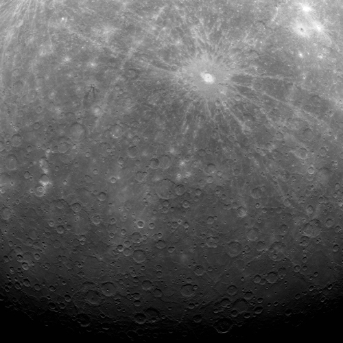 The surface of Mercury was captured by Messenger, the first spacecraft to orbit the planet Mercury on March 29, 2011. (AP-Yonhap News/NASA)