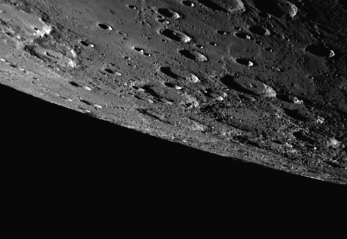 NASA's Messenger probe captured the southern hemisphere of Mercury when it flew by the planet in September 2009. (AP-Yonhap News/NASA)