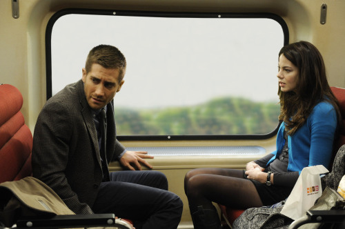 """Jake Gyllenhaal, left, and Michelle Monaghan star in """"Source Code."""" (Jonathan Wenk/Courtesy Summit Entertainment/MCT)"""