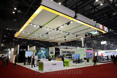 Hyundai Mobis Co.'s booth at the Seoul Motor Show.