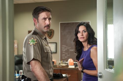 """David Arquette, left, and Courteney Cox star in Wes Craven's """"Scream 4."""" (Gemma La Mana/Courtesy Dimension Films/MCT)"""
