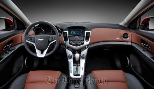 Interior of the Chevrolet Cruze. (GM Korea Co.)