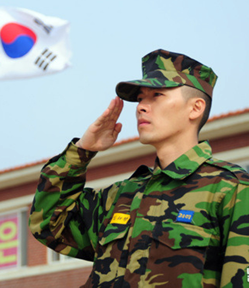 Actor Hyun Bin in uniform from an official Marine Corps blog. (Yonhap News)
