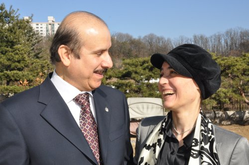 United Arab Emirates Ambassador Abdulla Al-Ma'ainah and his wife Aida (Yoav Cerralbo/The Korea Herald)