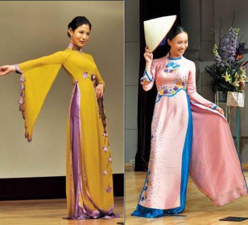 New styles of the traditional Vietnamese dress showcased at Vietnam-Korea Day. (Yoav Cerralbo/The Korea Herald)