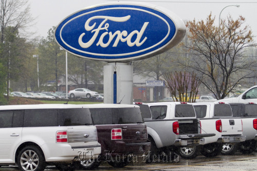 Ford Motor Co. vehicles sit on display at Capital Ford in Raleigh, North Carolina. (Bloomberg)