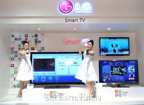 LG Electronics launches the new 3-D TV and Optimus2X in Shanghai early this month. (LG Electronics)