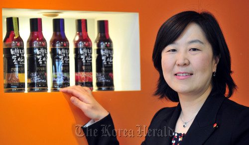 Sempio director of marketing Suh Dong-soon.(Park Hae-mook/The Korea Herald)