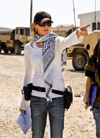 In this file photo, film director Kathryn Bigelow is shown on the set of
